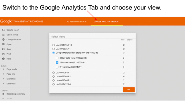 debug Google Analytics implementations